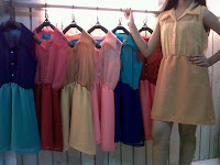 dress, wanita, rainbow
