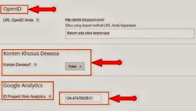 setelan google analytics blog