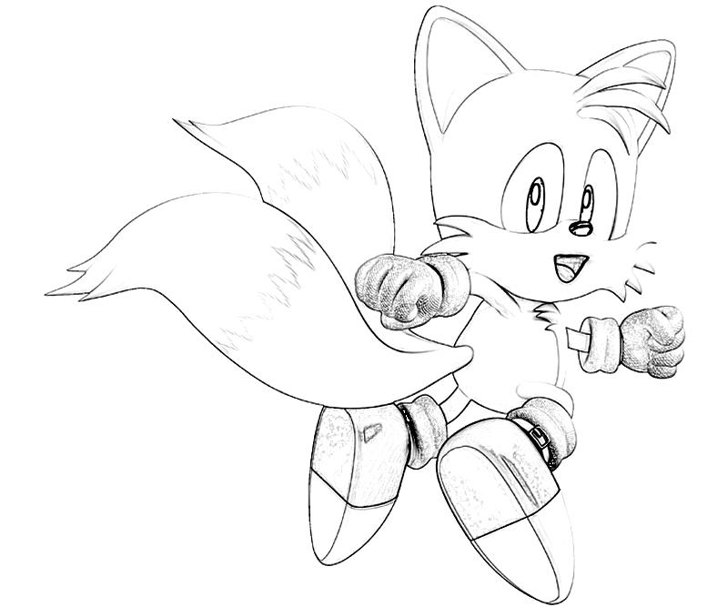 Sonic generations tails one surfing for Sonic tails coloring pages