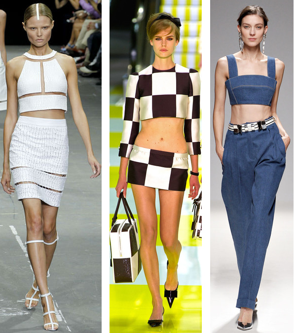 The Spring 2013 Cropped Top Trend: Alexander Wang// Louis Vuitton//Balmain