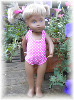 Toddler swim suit model