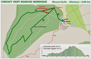 3  Circuits Marche nordique  à Pessade 63