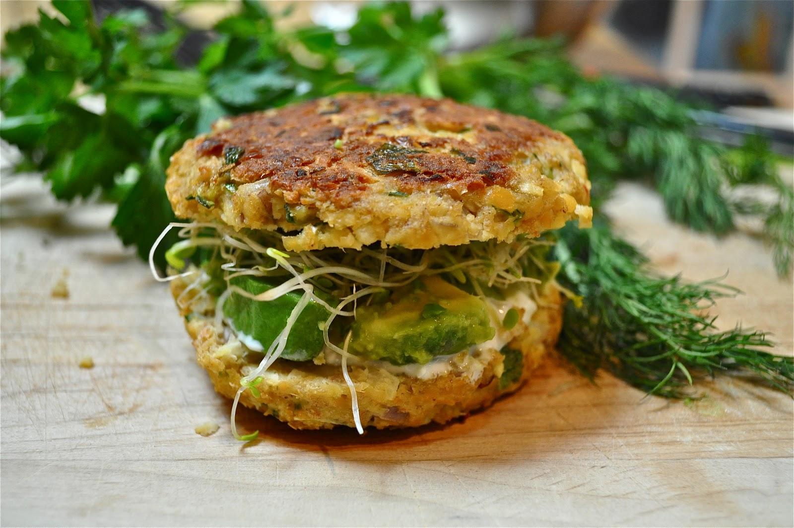 Ina Garten Tzatziki chickpea veggie burgers & tzatziki yogurt sauce - marin mama cooks