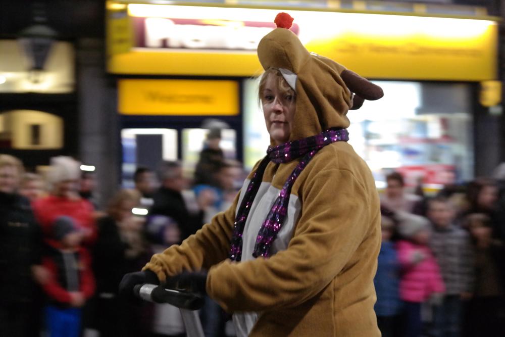 Reindeer on a segway
