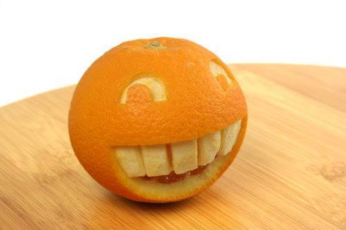 Funny orange carving art 6