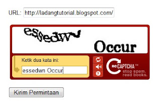 daftar blog ke google, verifikasi captcha