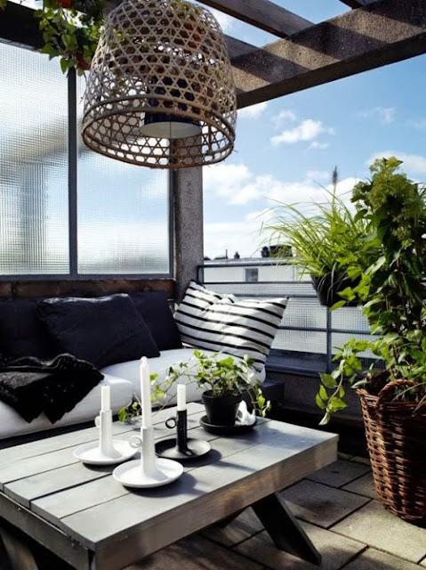 terraza blanco y negro