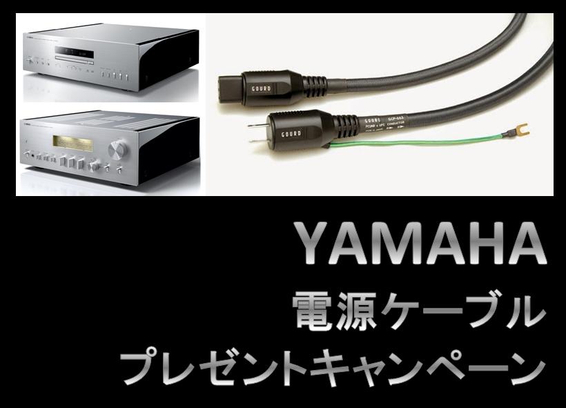 【期間&数量限定キャンペーン】YAMAHA・電源ケーブル・プレゼントキャンペーン実施中。