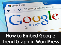 How to Embed Google Trend Graph in WordPress