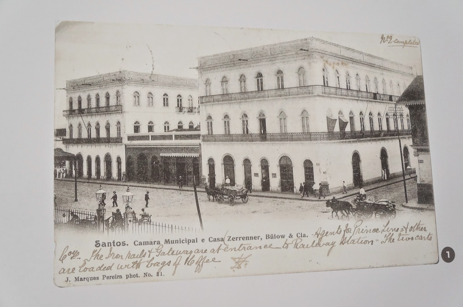 edifício do largo Monte Alegre no ano de 1900, onde atualmente está o Museu Pelé