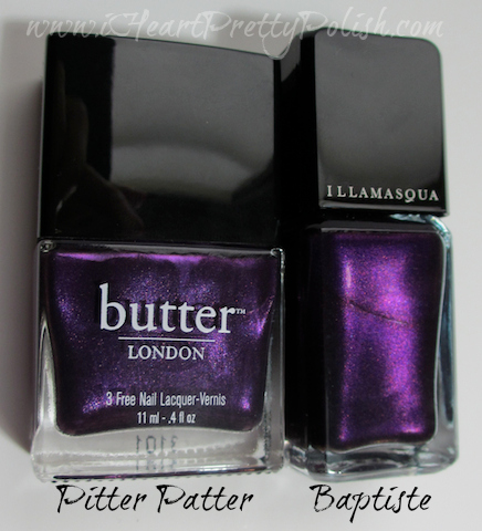 Butter London Pitter Patter Illamasqua Baptiste Comparison