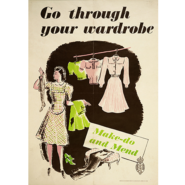 WWII poster: Make do & mend