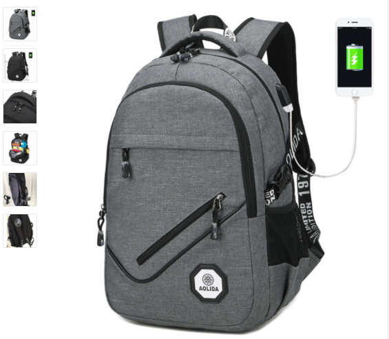 Antitheft Notebook Backpack