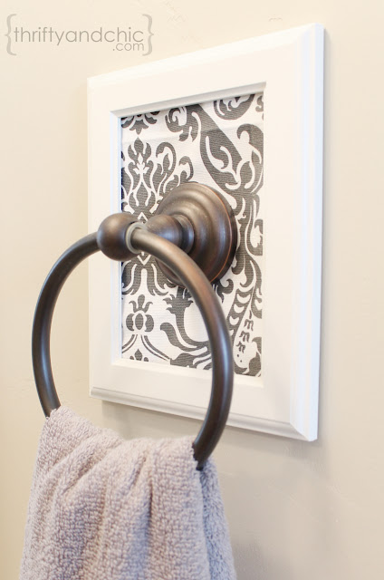 Decorative Framed Towel Holder