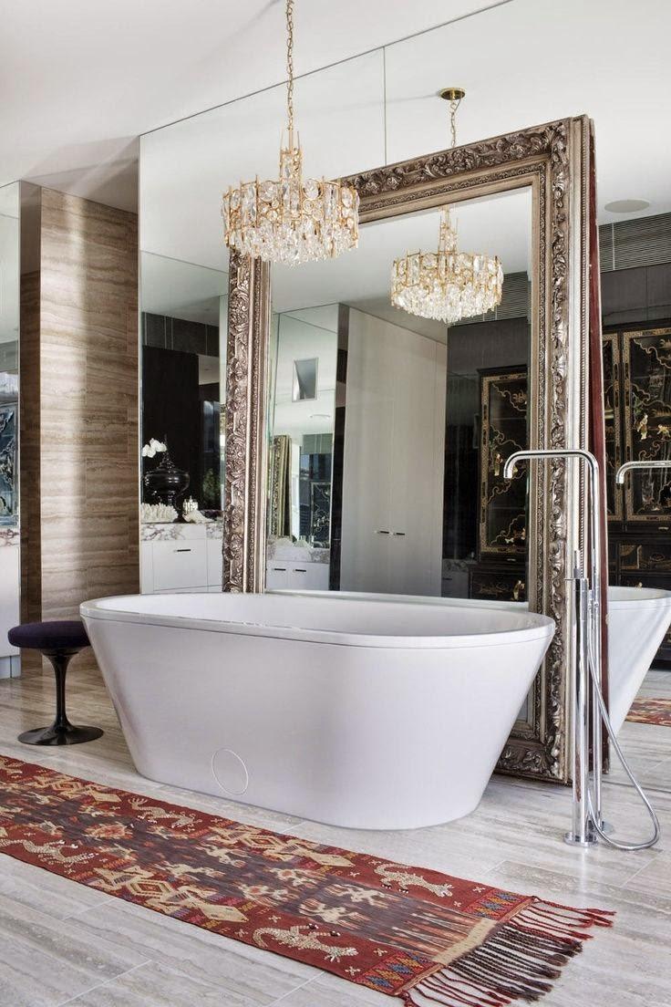 30 Fotos De Espelhos Decorativos Para Sala De Estar E Jantar  ~ Como Decorar Um Quarto De Casal Gastando Pouco Dinheiro