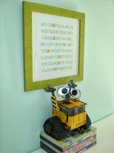 Moldura do Alfabeto com nome da Criança