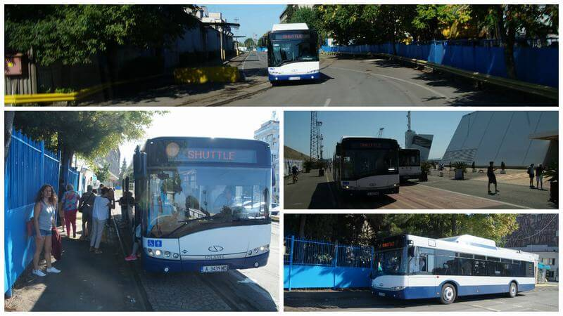 bus del puerto de Burgas en Bulgaria