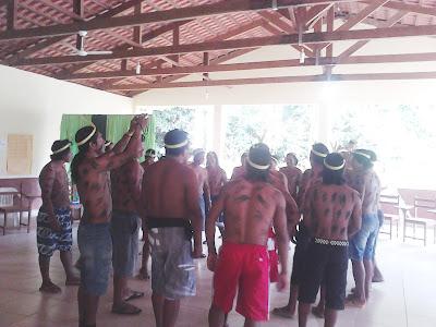 Danças em comemoração ao encerramento