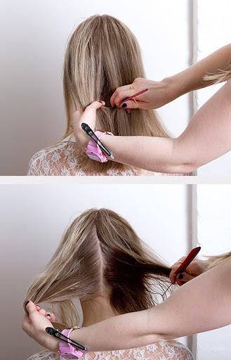 Разделете косата на две равни части