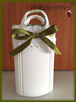 Contenitore in plastica portatutto bianco e verde