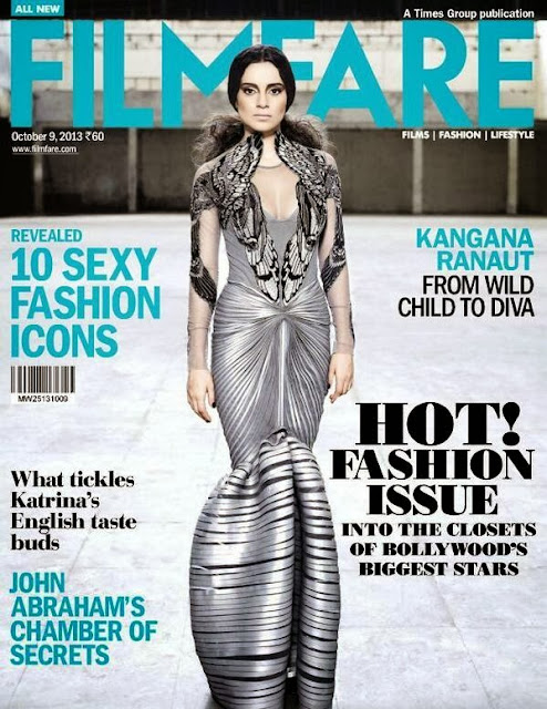 Kangana Ranaut Wild Child to Deva on the Cover page of Filmfare Fashion issue
