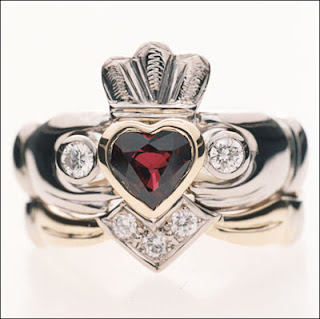 diamond claddagh wedding rings-claddagh engagement rings-irish wedding rings-claddagh rings