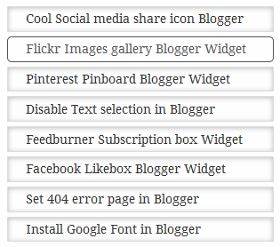 Shadowed popular post widget for Blogger