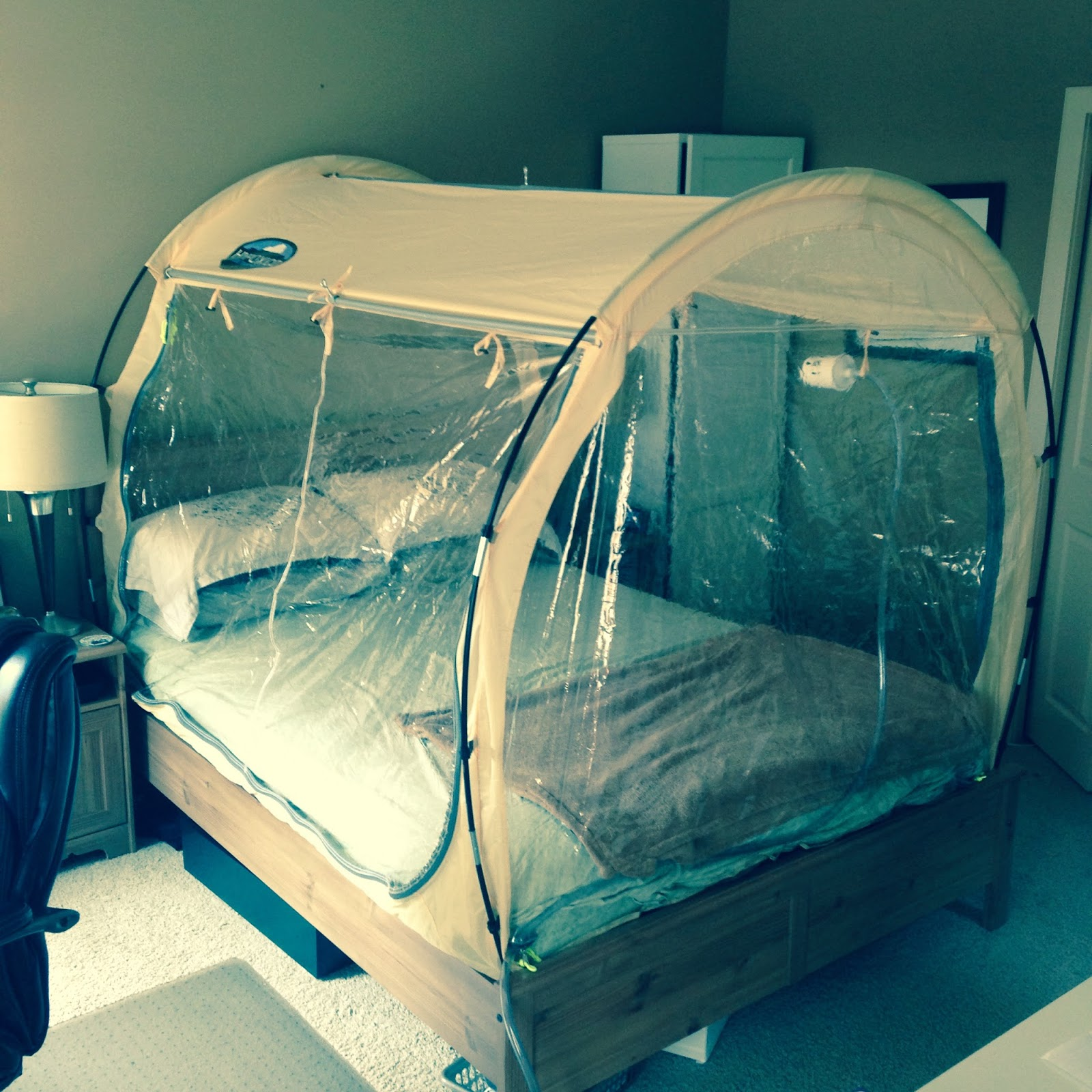 Sleeping in a Hypoxico tent the past month getting acclimated ...sorry Sharon & RunProctor: Pre Run Rabbit Run