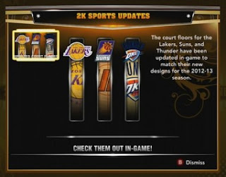 NBA 2K13 Online Data Update
