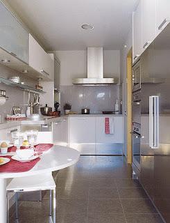 Decoraci n e ideas para mi hogar cocinas largas y estrechas for Cocinas angostas