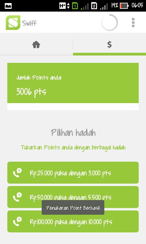 Pulsa Gratis Menggunakan Androidmu dengan Swiff (Beta