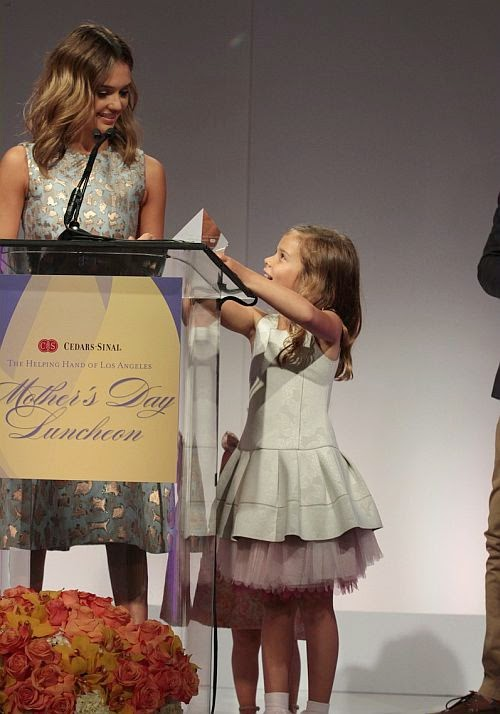 It was clear she was the centre of the show after Jessica Alba was recently get Mother of the Year Award from the Mother's Day Luncheon And Fashion Show in Beverly Hills on Friday,‭ ‬May‭ ‬9,‭ ‬2014