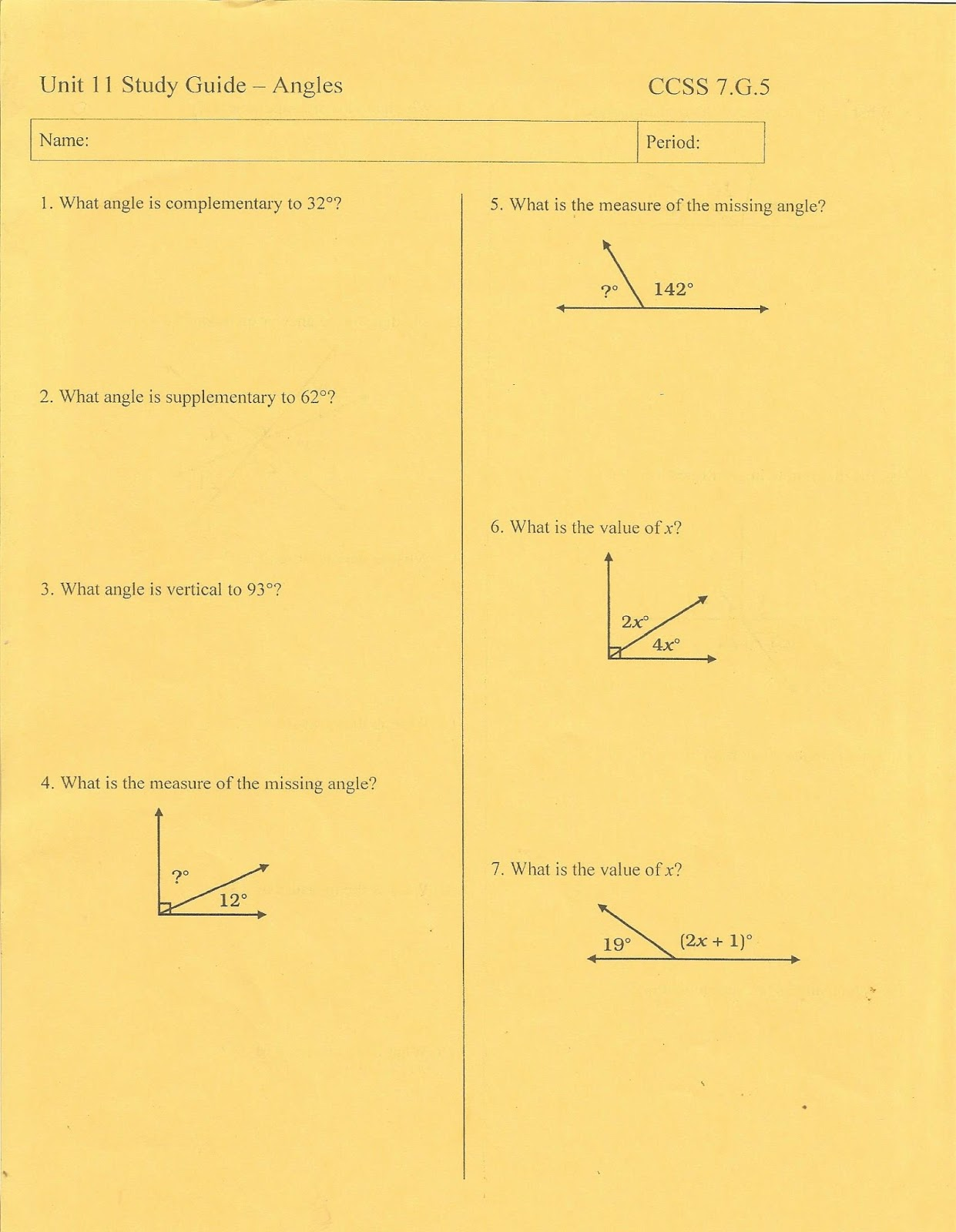 Geometry Common Core Style May 2015