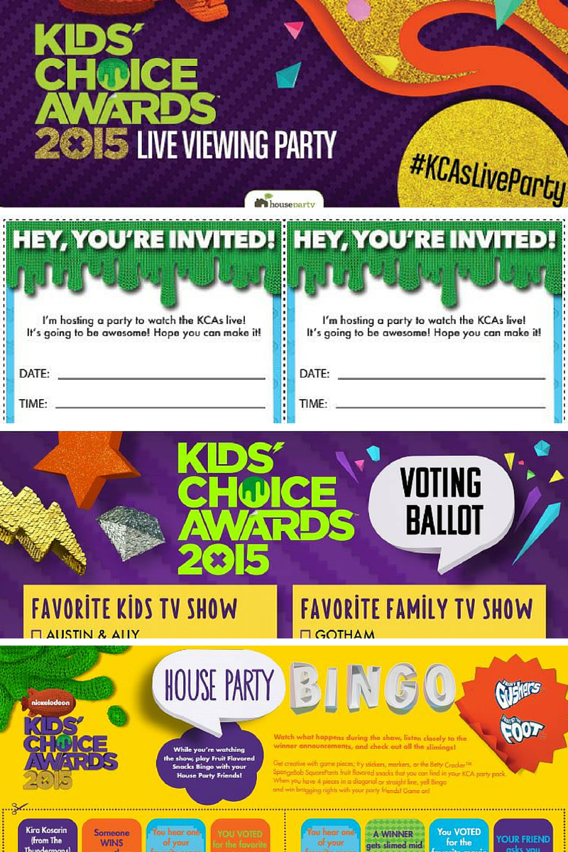 Download the official #KCAParty welcome sign, invites, a voting ballot, word search, and B.I.N.G.O from iNeedaPlaydate
