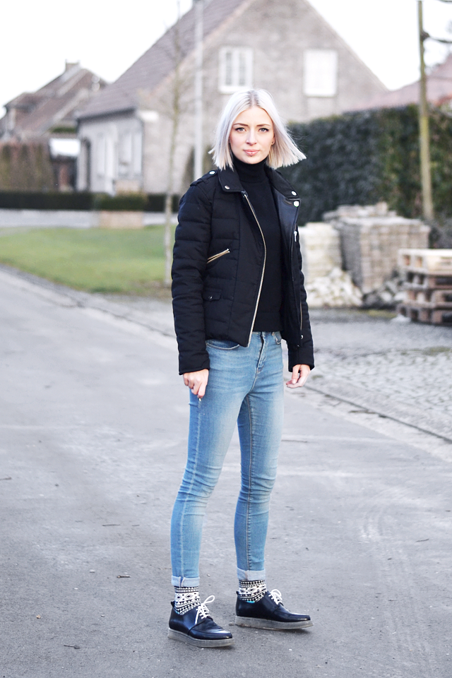 Street style, inspiration, trends, 2015, the kooples, skinny jeans, high waisted, happy socks, sammy icon