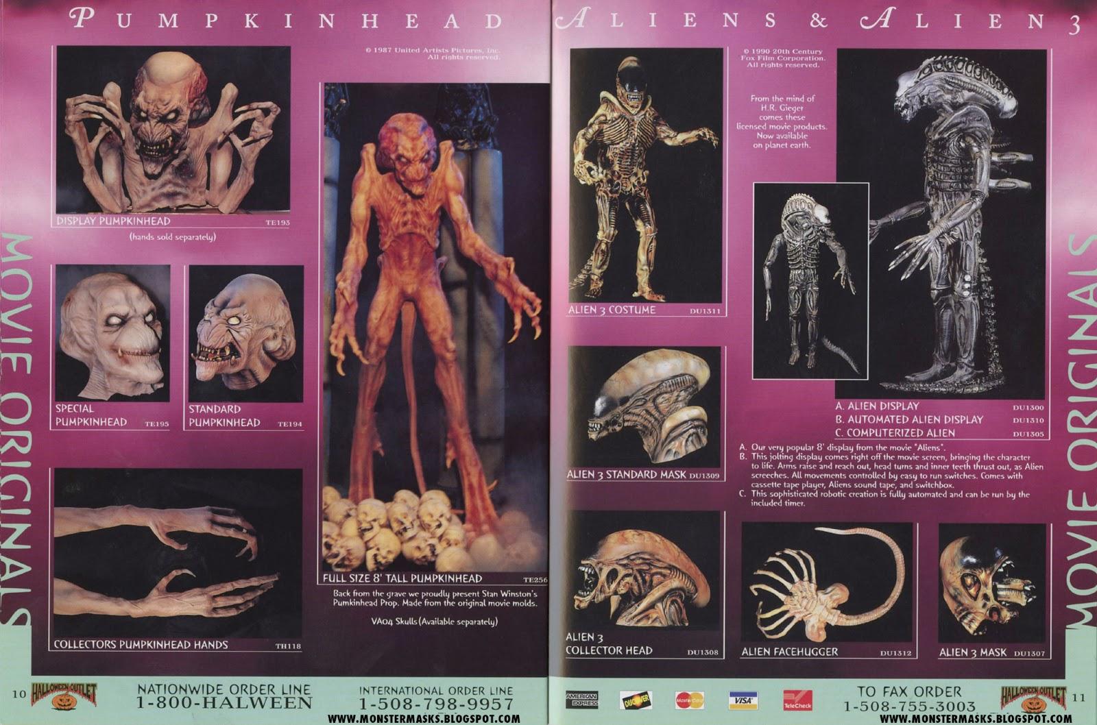 pumpkinhead alien masks - Halloween Catalog