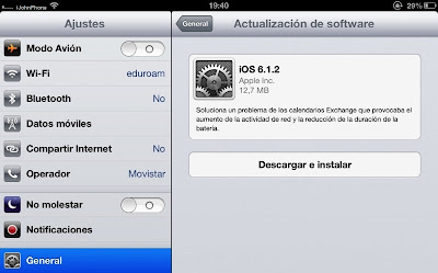 Descargar iOS 6.1.2 para iPhone, iPad y iPod Touch