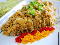 Jiló Refogado com Quinoa em Grãos (vegana)