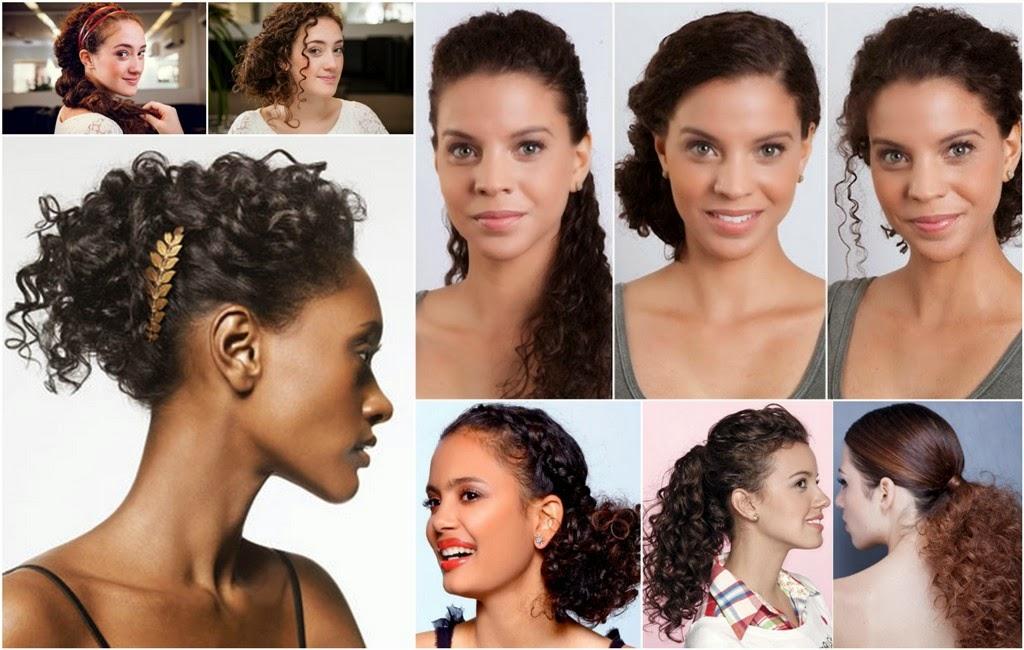 Penteados para cabelos crespos ou cacheados