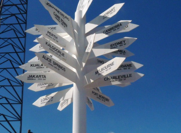 SIGN POSTS IN THE ISA ..QLD