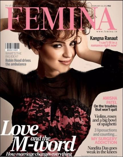 Kangana Ranaut  - Kangana Ranaut On Femina Magazine Cover February