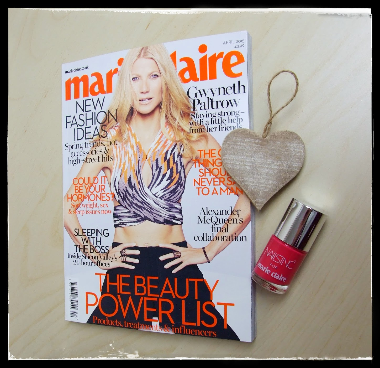 marie claire March 2015 magazine freebies nails inc nail varnish fiesta fizz fashion festival