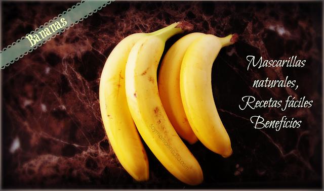 bananas mascarillas recetas beneficios
