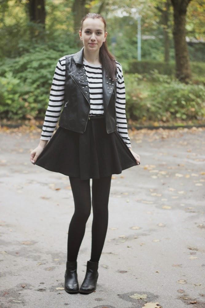 OOTD: Skater Skirt & Leather