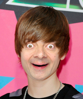 Justin Bieber wajah mr.bean