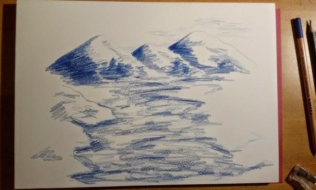 Preferenza La Matita Autodidatta: Paesaggio con matite colorate IH27
