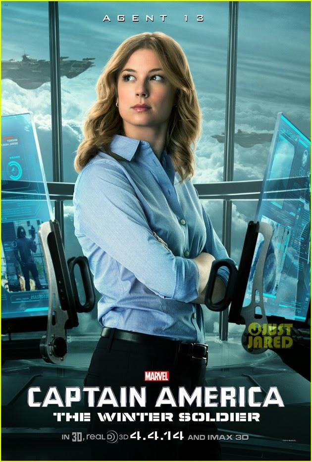 """Poster de la """"Agente 13 / Sharon Carter"""" para Capitán América: El Soldado de Invierno"""