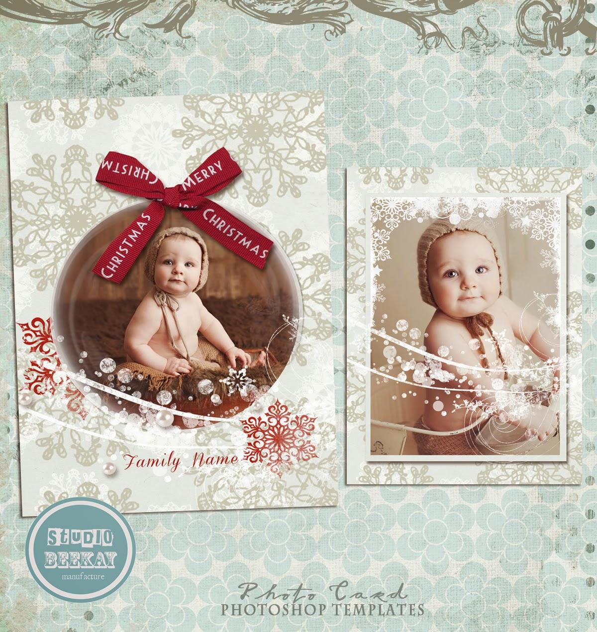 Poshop Templates For Pographers | Photoshop Templates For Pro Photographers New Christmas Card