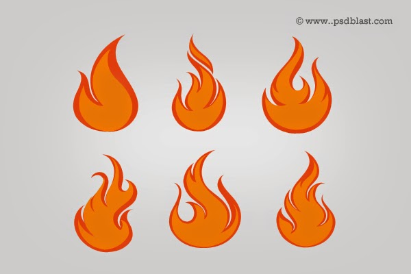 Fire Flames Icon Set PSD