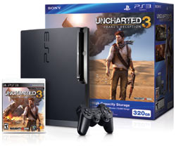 The PlayStation 3 320 GB Uncharted 3; Drake's Deception bundle